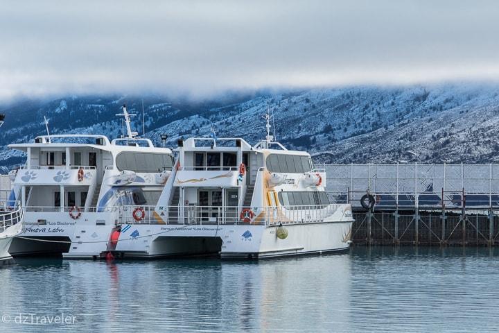 The cruise ship I boarded a trip to the Upsala Glaciers.