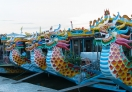 Tourist boats in Hue