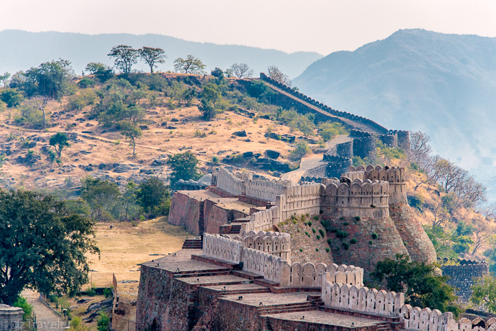 Wall of Kumbahlagarh Fort