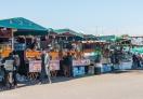 Shops in Jemaa El-Fna square