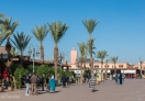 A square in Medina (old city) of Marrakech