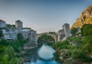 A view of Old Bridge from Koski Mehmed Pasha Mosque, Mostar
