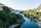 A view of Mostar from the Old Bridge