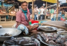 I am strolling through the fish market now
