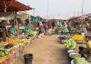 A view of the outdoor market