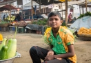 This young boy working in the market