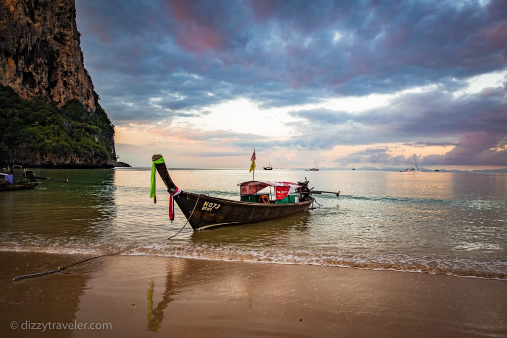 Loag Tail boat at Railay beach west