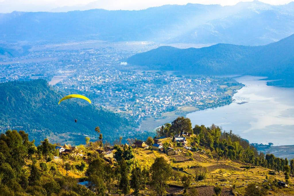 Paragliding from Sarangkot Hills, Pokhara