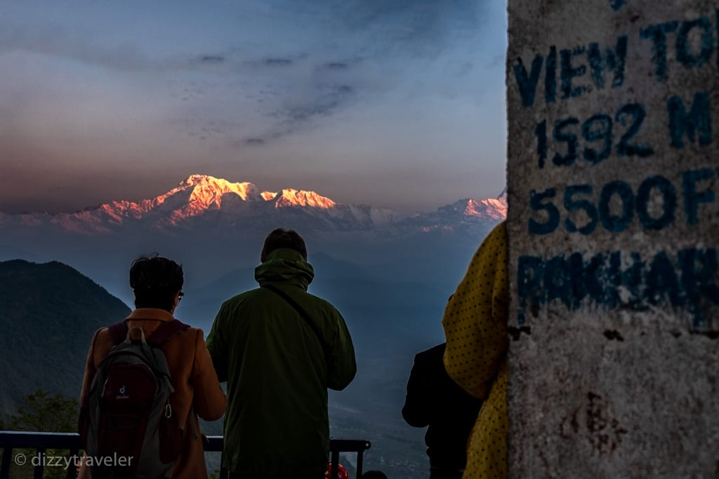 Sunrise from Sarangkot View Tower, Pokhara