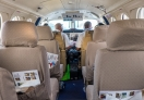 Inside the tiny flight, Safarilink Airways to Nairobi from Zanzibar