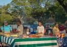 Street food market in Zanzibar
