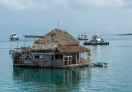 Floating Restaurant in the water, Zanzibar