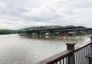 A view of Lake Austin from the Mozart's coffee shop
