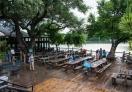 Outdoor seating - Mozart's at Lake Austin