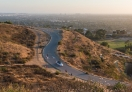 Driving all the way to the top of Baldwin Hills, Los Angeles