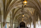 A view inside the library, Yale University