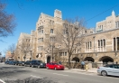 Street view of Yale University campus. New Haven