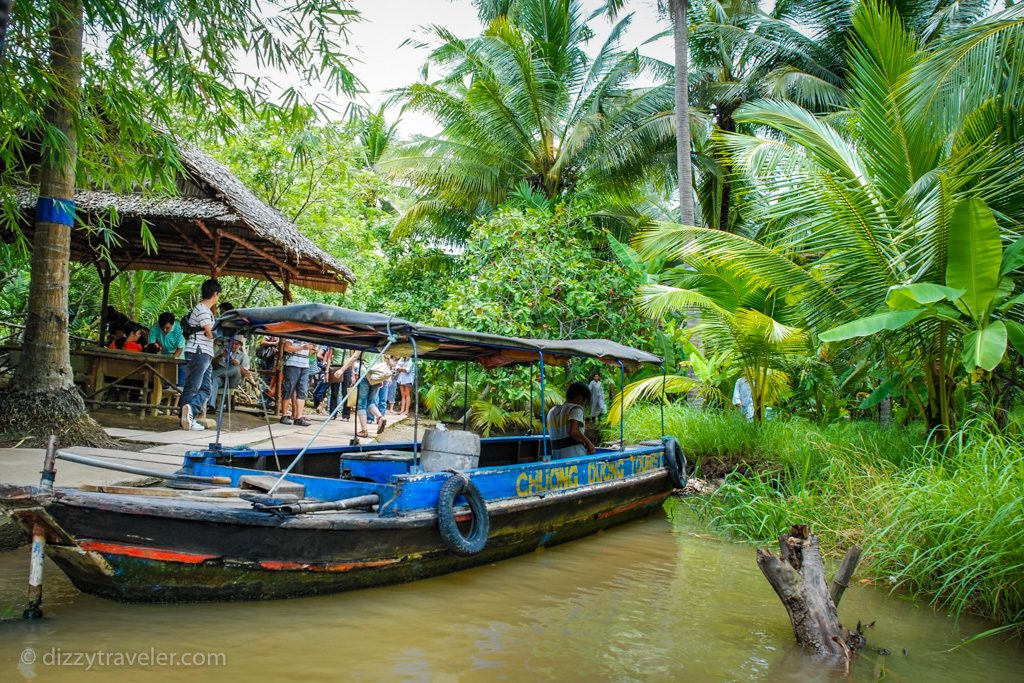 Small island in Mekong delta