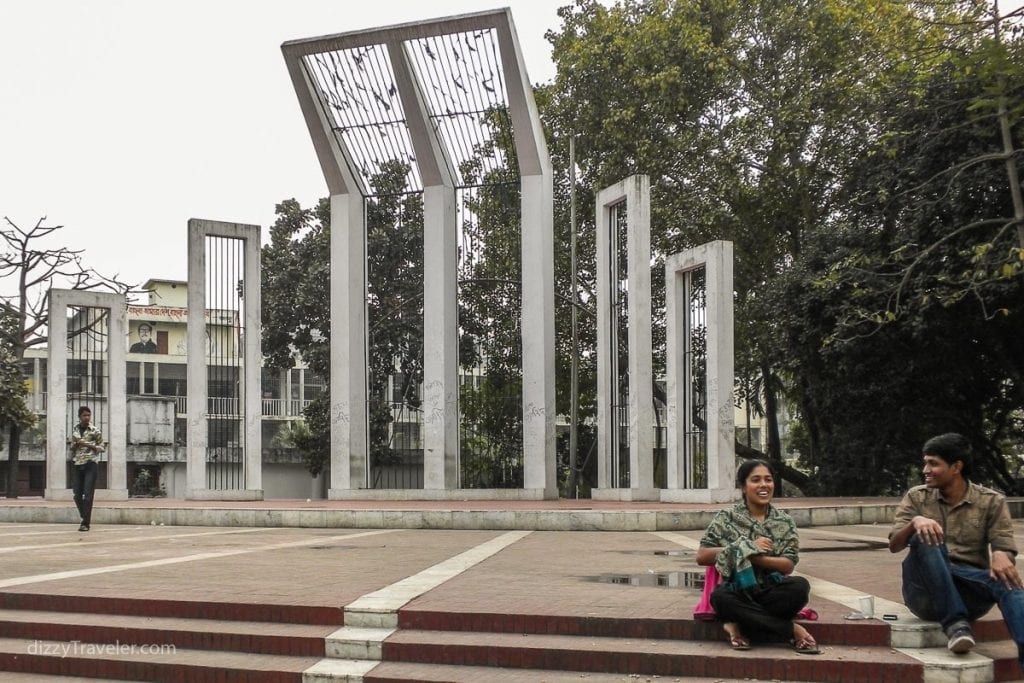 Shahid Minar next to Dhaka Medical College