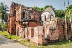 Ruined houses in historic city Panam (Panam Nagor), Bangladesh