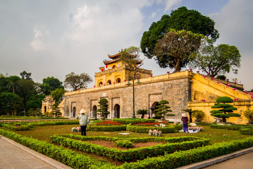 View of the Thang Long Imperial Citadel in Hanoi