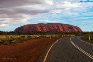 Road to Ayer Rock, Uluru, Australia