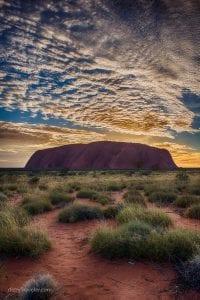 Beautiful view of Ayer Rock, Uluru