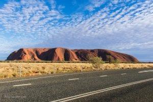 Early morning view of Ayer Rock, Uluru