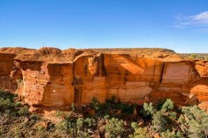 view into the Kings Canyon, Watarrka National Park, Northern Territory