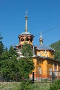 Church of Saint Nicolas in Listvyanka Village, Russia