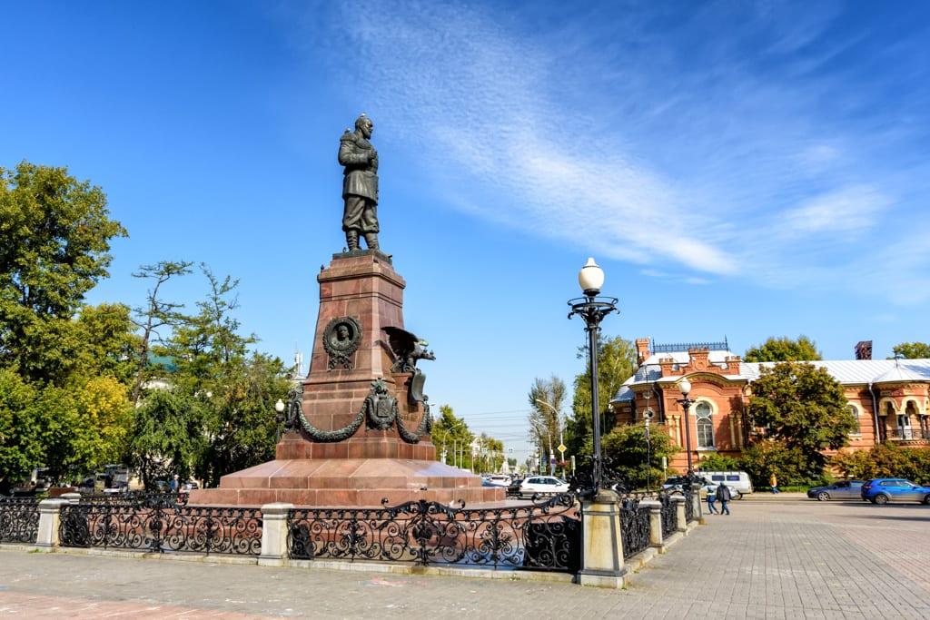 Monument to Alexander III. Irkutsk