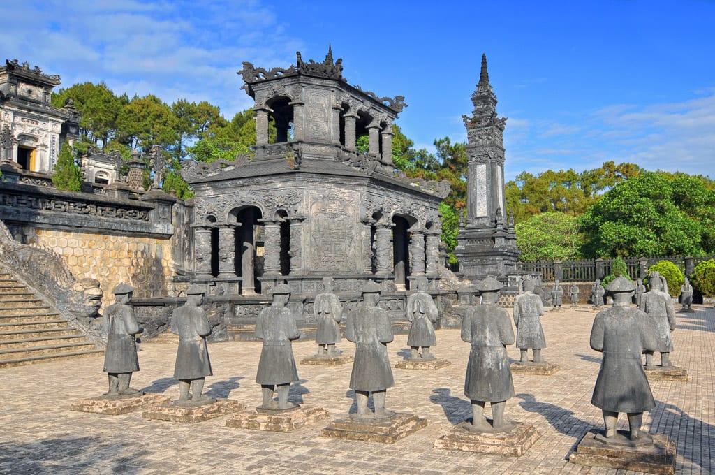 Tomb of Emperor Khai Dinh in Hue, Vietnam