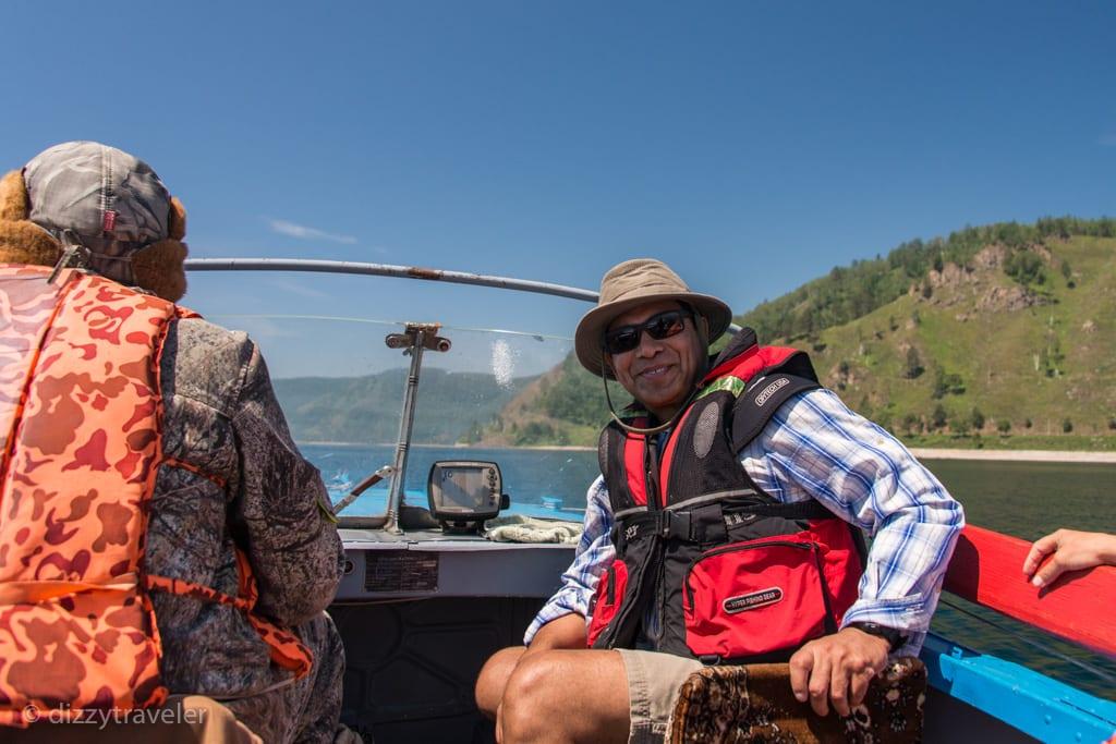 boat ride in Lake Baikal