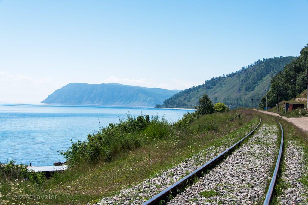 A stunning view while following the Circum-Baikal Railway track