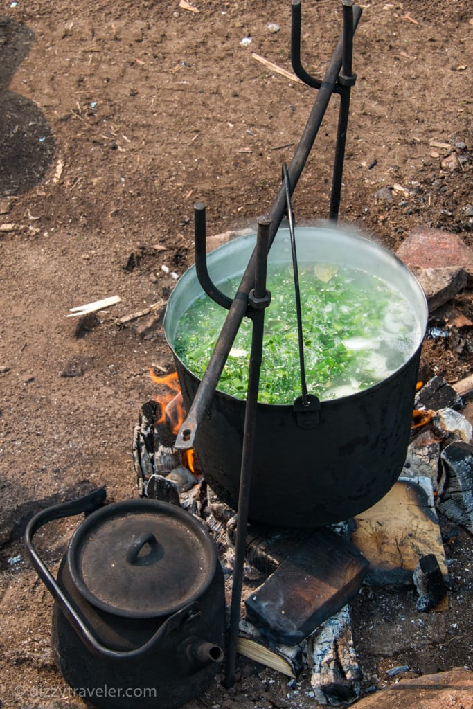 Traditional Fire Cooked Omul fisherman's Soup