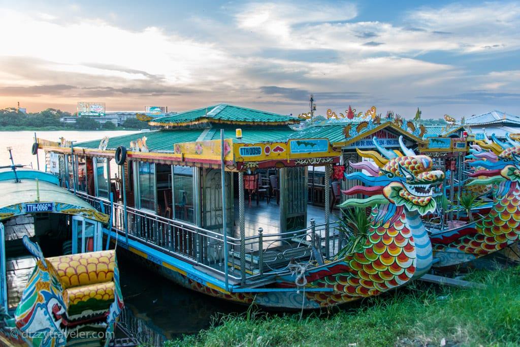 dragon boat in Perfume river