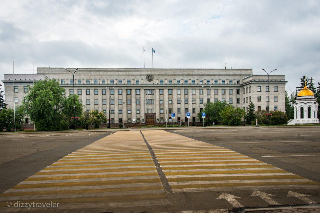 The Kirov Square in Irkutsk, Siberia