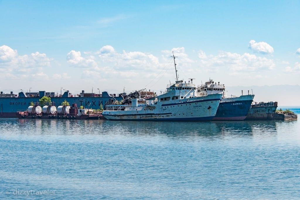 Fishing boats at Port Baikal