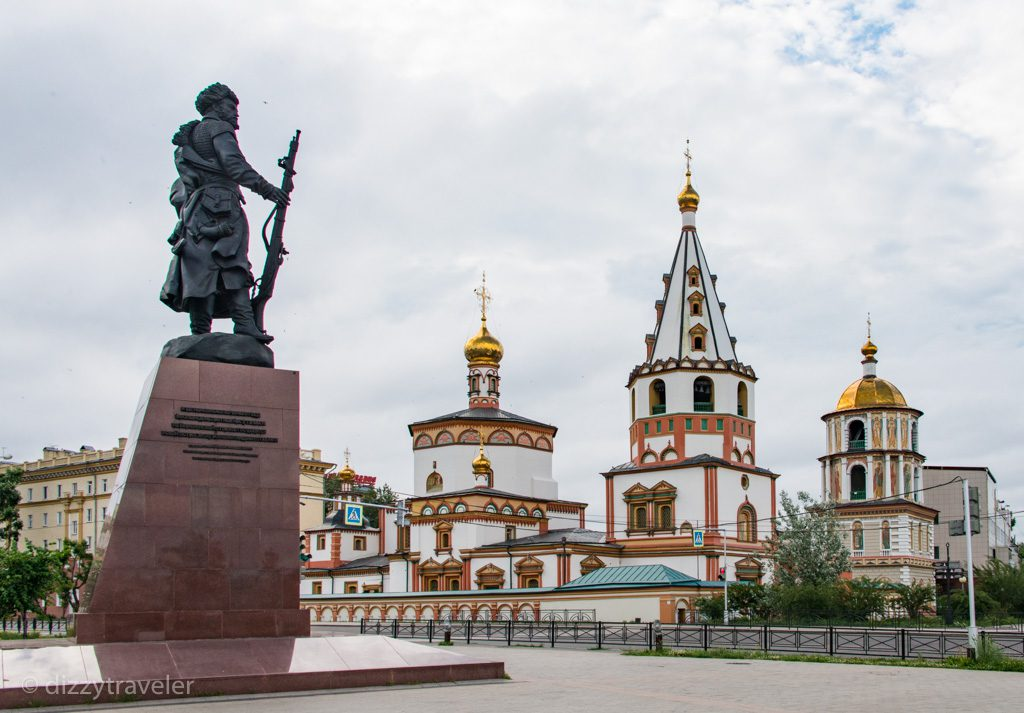 The monument to the founders of this city in Siberia