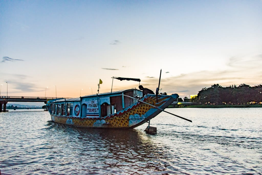 Tourist boat in Hue, Perfume River