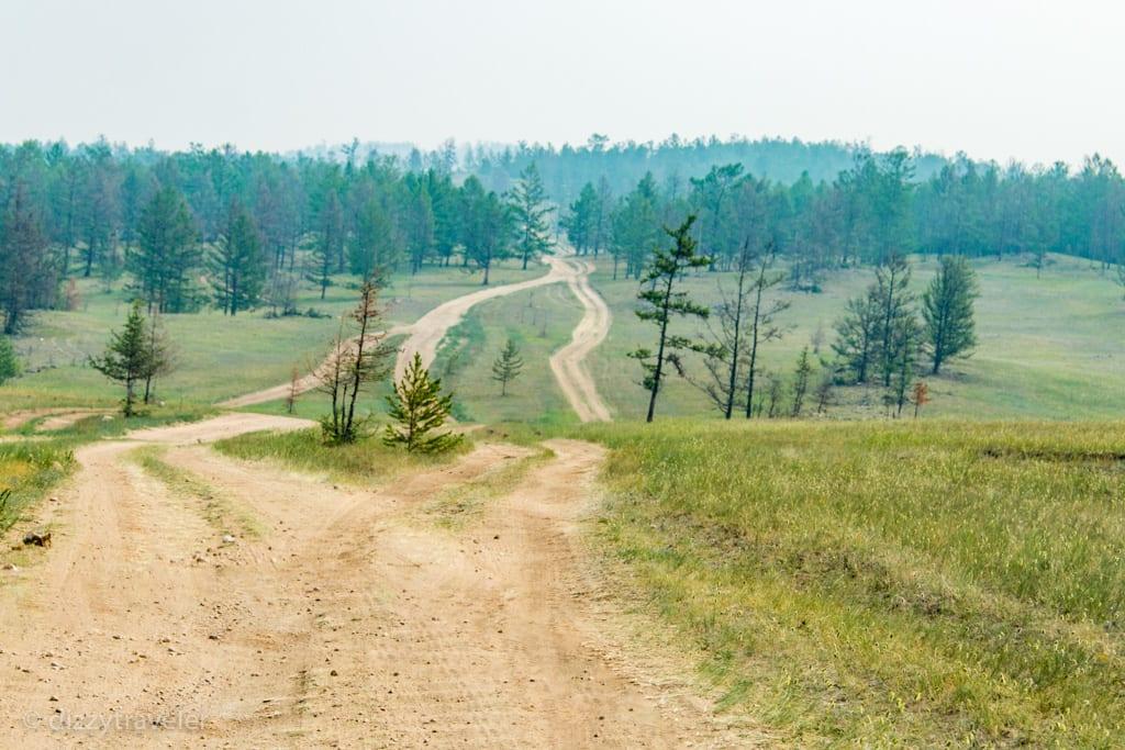 Roads on Olkhon island