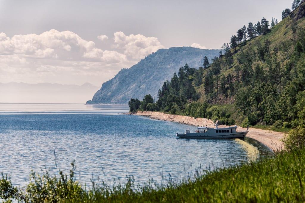 Hiking along Lake baikal