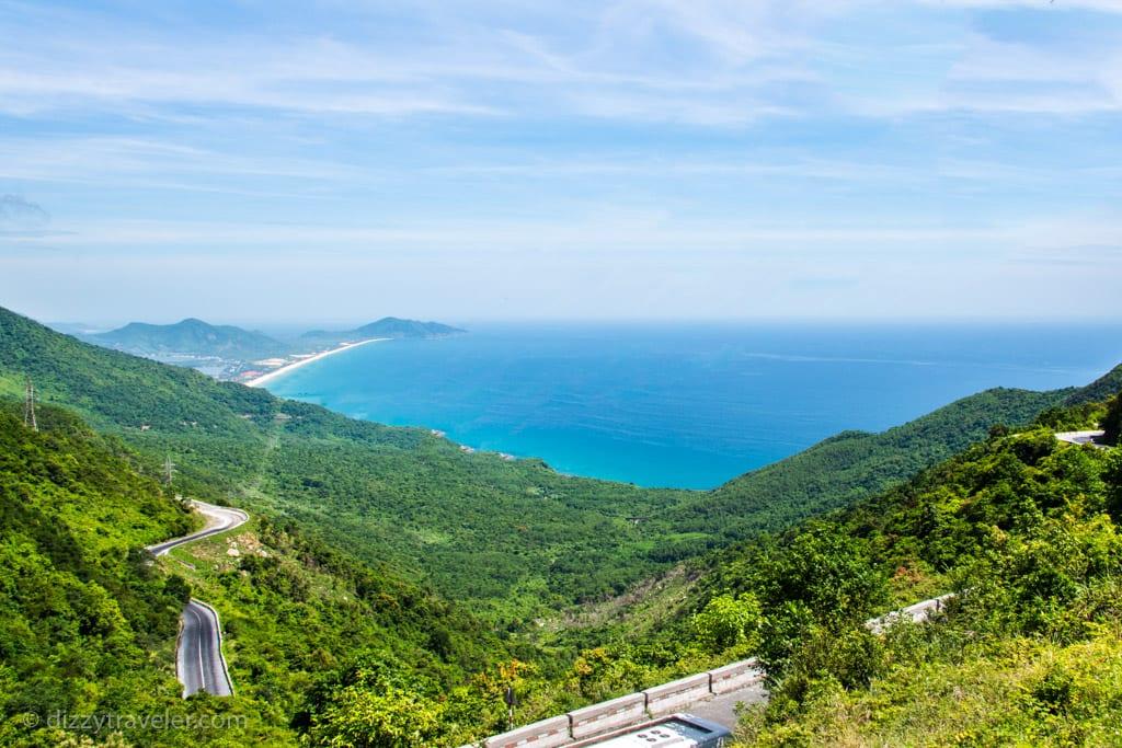 Panoramic view of Hai Van Pass, Da Nang, Vietnam