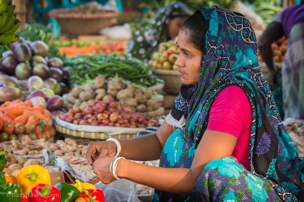 Vegetable market in dhaka