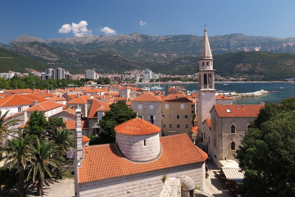 Budva Old Town in Montenegro