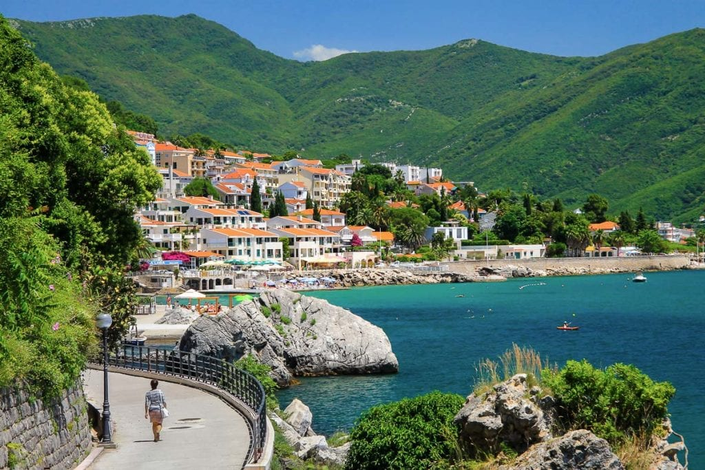 Beautiful view of Herceg Novi, Montenegro