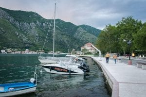 An evening walk by the Kotor Bay