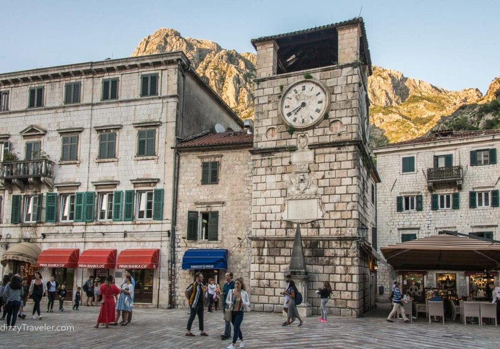 Clock Tower in Old Town, Kotor