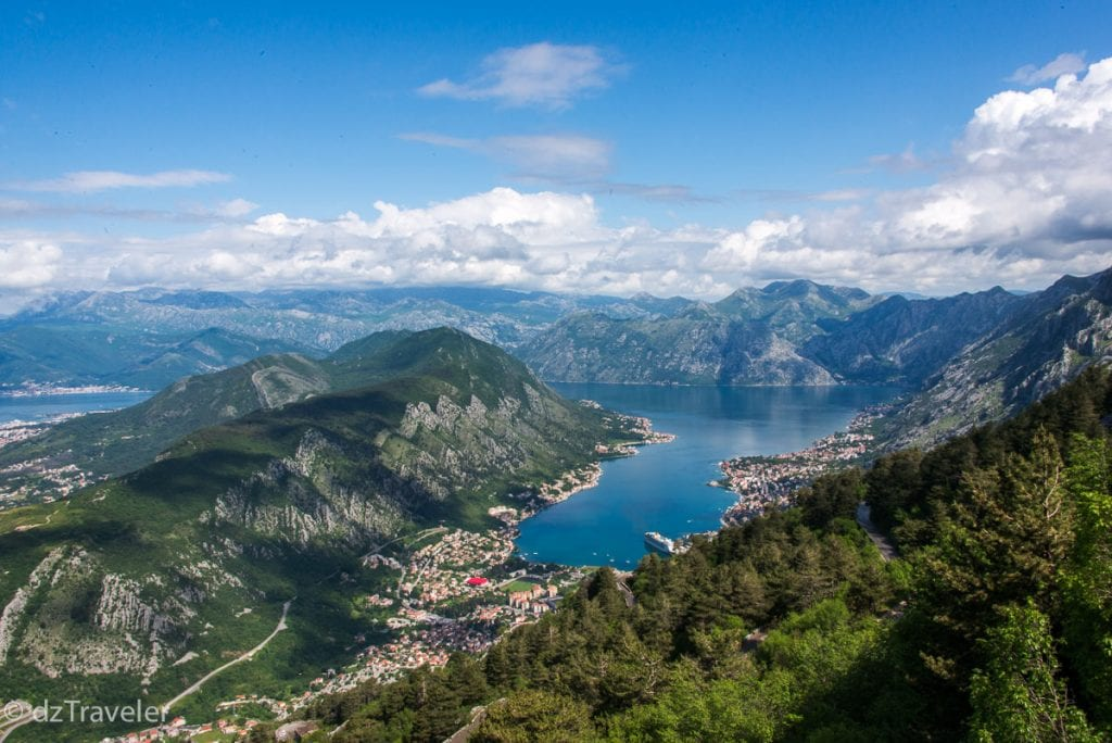 A view of Kotor from Mt Lovcen