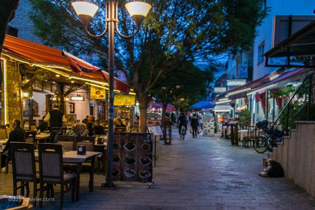 Турецкий базар в старом квартале Охрида